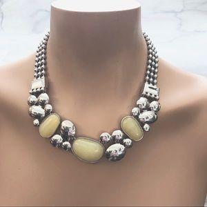 Lia Sophia cloudburst silver statement necklace